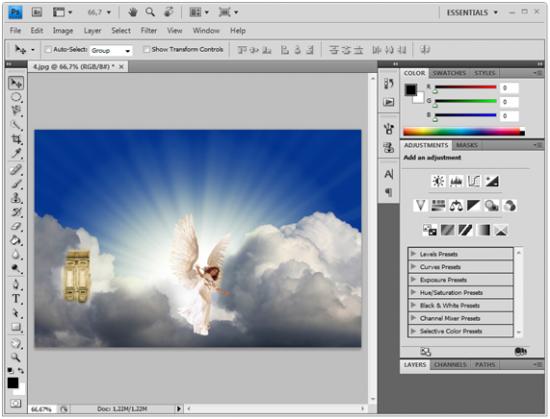 Exemplo de edicação gráfica no Photoshop CS4