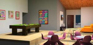 Modelo de apresentação 3D para projeto de interiores desenvolvido no Google SketchUp