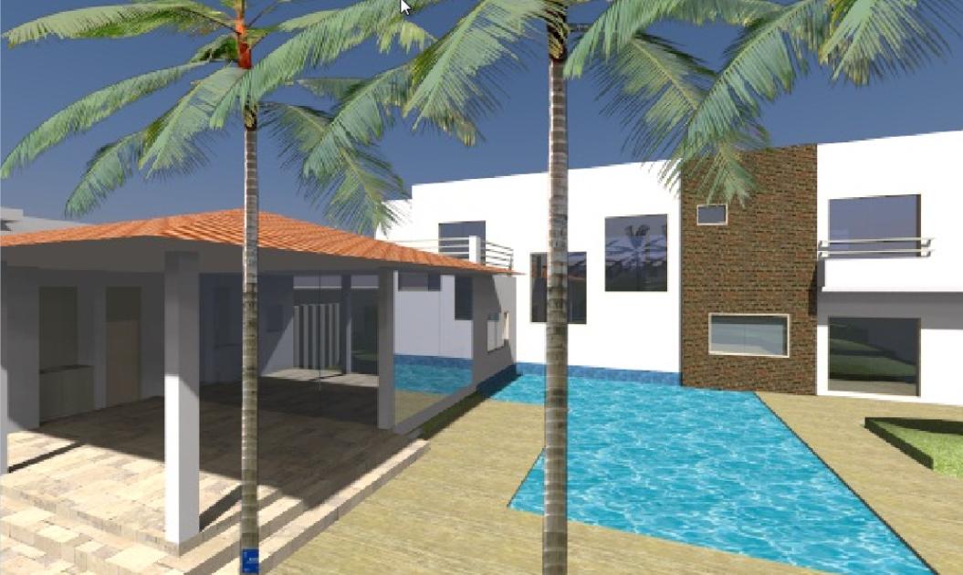 Projeto realizado no curso SketchUp 8 Português - Modelagem Residencial para Arquitetos