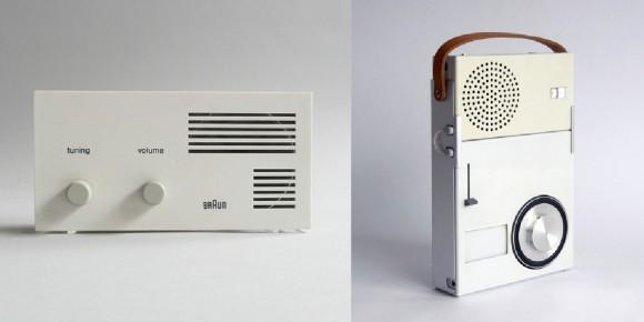 """Braun Lectron Radio e o TP1, """"o primeiro walkman"""" (desenhados por Dieter Rams para a Braun)"""