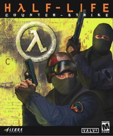 Capa do primeiro lançamento oficial de Counter-Strike pela Valve Fonte: Wikipédia