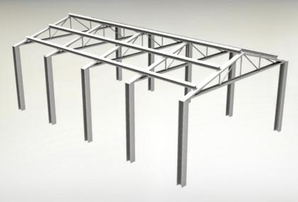 Estrutura metálica modelada no Inventor