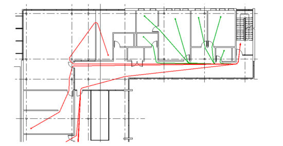 Ferramenta Path of Travel Analysis | Revit