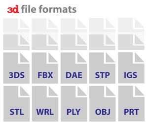 Existem centenas de formatos de arquivo 3D
